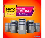 Unlimited hosting offer is running with free domain