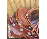best quality horse trail saddle Custom Western Trail Horse Brown Leather