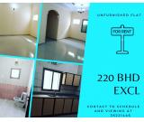 220 BHD Spacious flat for rent in hidd