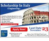 Scholarship In Italy engineering