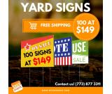 yard signs cheap near me