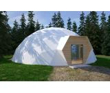 Insulated tent dome home 100 m2