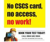 CSCS Test, CSCS Card, CSCS Training, Health and Safety Test - Call now 0844 682 0844