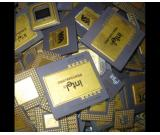 COMPUTER CERAMIC CPU PROCESSOR GOLD SCRAP