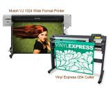 Mutoh ValueJET 1324 Large Format Color Printer ValuePrint & Cut Package