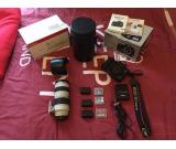 Canon 5d mark 3 with lens and 1300D whatasp me +919836884617