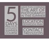 Photography summer course