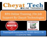 RPA online training, on job support by cheyat tech