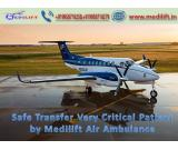 Full Life-Support Air Ambulance Service in Ranchi by Medilift