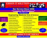 EDISON IT SOLUTIONS IS THE ONLY PLACE FOR YOUR COMPLETE PH.D RESEARCH GUIDANCE
