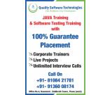 Quality Software Technologies  Software Testing, JAVA, Python, ML Training Placement
