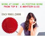 Simple Homebased ads posting work call 9898665104 - Surat