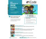 Instructor-led Online STEM classes for your kids from iCode - Call/Enroll NOW!