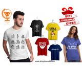 Shop online Printed T-shirt for Men and Women