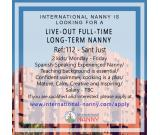 Need Live-out Full time long term Nanny in Sant Just