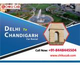 Book a Delhi to Chandigarh cabs for one way & round trip rides
