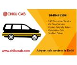 What are the key benefits of using airport cab services in Delhi?