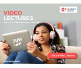 Video Lectures for CA, CS, CMA and more upto 30% OFF