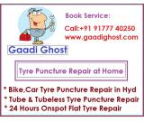 Tube and Tubeless Puncture Repair at Home in Gachibowli, Manikonda Hyderabad