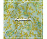 Buy Golden Floral Pattern Organza Fabric With Sequence Work at MK SIGNATURE Groom and Bride