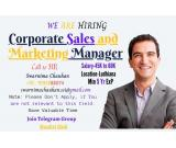 Opening for Corporate Sales and Marketing Manager