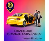 Chandigarh to Manali Taxi Services - Sikh Cab