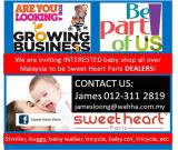 Calling all baby shops in Malaysia - Come Join us!