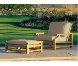 Teak sofa for outdoor use