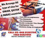 Oman,Qatar and Dubai Visiting Visa arrangements