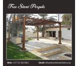 Wooden Pergola and Gazebo in Uae.