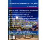 South Pattaya High Class Hotel Rent and Sale