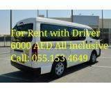mini bus for rent with dirver 055.1534649