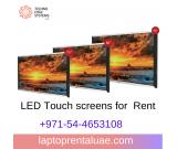 LED Touch screens for rent | Multi-touch Screens Rental - Techno Edge