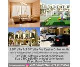 2BR & 3BR Villa for rent in dubai South