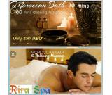 Rira Spa offer a Moroccan bath Massage for 200aed