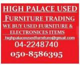 050 8586395  WANTED USED FURNITURE & ELECTRONICS IN SHARJAH