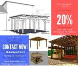 Natural Wood Pergola kit at Best Price in UAE