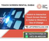Digital signage Touch Screen Rentals in Dubai, UAE