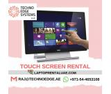 Call us +971 544 653108 for Touchscreen Rentals in Dubai Sharjah UAE