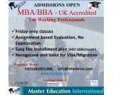 MBA/BBA –UK  Accredited for Working Professionals