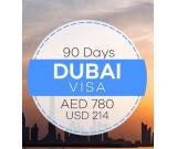 90 Days Dubai Tourist Visa