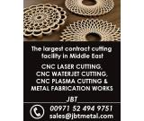 Water-jet, Laser & Plasma cutting, metal fabricating services in Middle East.