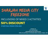 50% Discount Promo by Sharjah Media City Freezone
