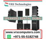 Speakers Rental Services in Dubai