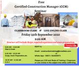 Free Seminar On Certified Construction Manager (CCM) ®