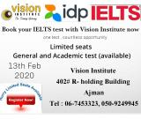 BOOK YOUR IELTS EXAM at Vision-0509249945
