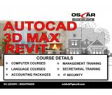 Autocad 2D & 3D, 3D Studio Max with Vray & Revit Training in Deira Call 042213399