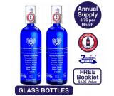Transdermal Magnesium Oil – 2 month supply (7.75oz) in blue GLASS.