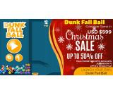Make dollars through launching your own Dunk Fall Ball Game||Get 50% off on Christmas