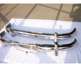 Mercedes Benz 220A stainless steel bumpers